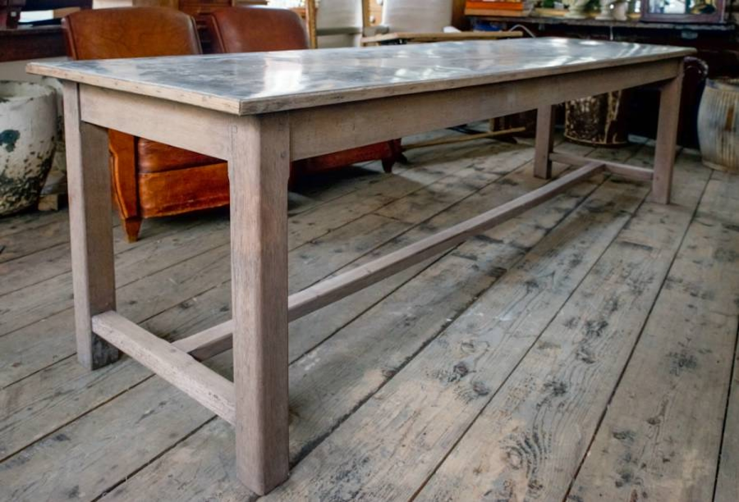 French Zinc topped Patisserie table