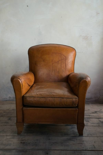 Leather Club chair of small proportions C 1935