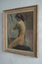Seated female nude, Oil on Canvas c 1950 - picture 3