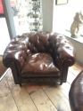 Pair of Brown Chesterield Club armchairs - picture 2