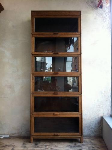 Sectional Oak bookcase by Gunn
