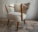 Pair of  German Mid century chairs reupholstered in faux suede chairs  - picture 2