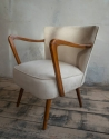 Pair of  German Mid century chairs reupholstered in faux suede chairs  - picture 3