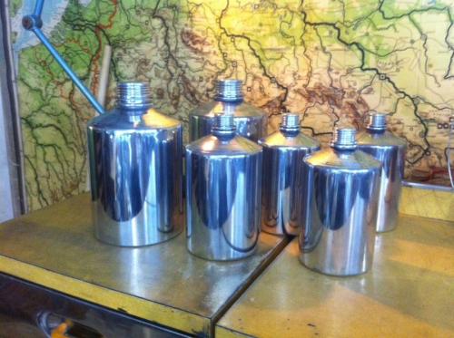 Highly Polished Aluminium Cannisters