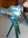 Polished vintage theatre light on tripod - picture 2