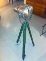 Polished vintage theatre light on tripod - picture 3