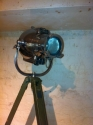 Polished vintage theatre light on tripod - picture 5