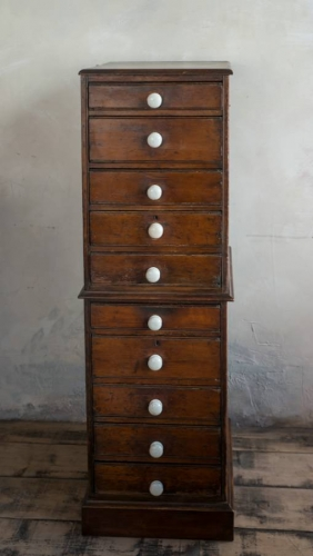 Victorian Pine tall chest