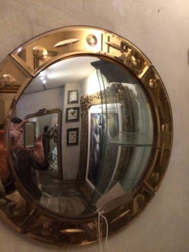 Art Deco convex mirror
