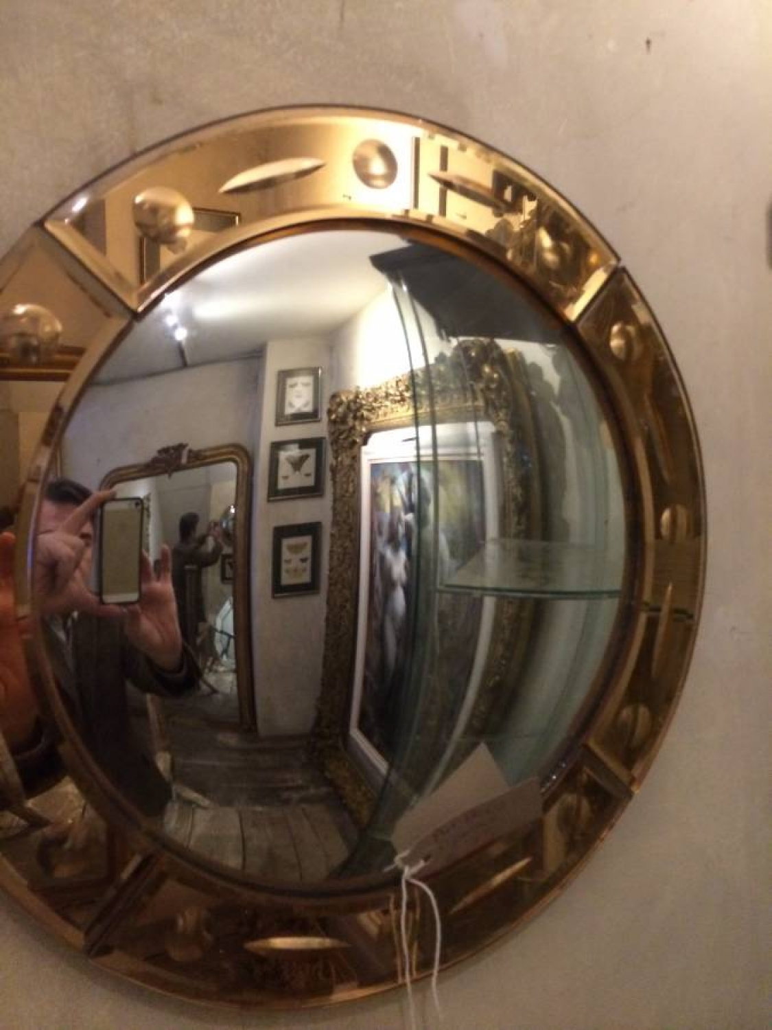 Art Deco convex mirror