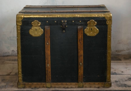 Studded Coaching Trunk mid 19thc
