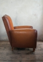 Pair of  Moustache back Leather  Club chairs - picture 2