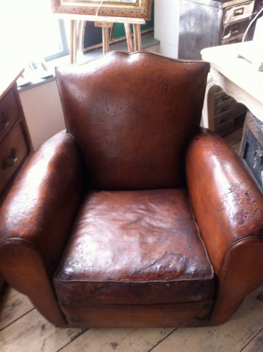 Pair of Moustache back club chairs