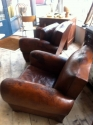 Pair of Moustache back club chairs - picture 5