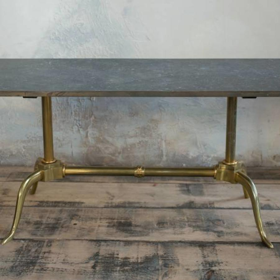 1970`s Marble and Brass Coffee Table