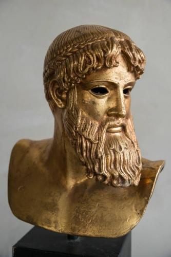 Gilt Bronze Greek bust of Alexander the Grea