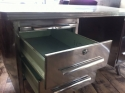 Polished Steel 1950`s French Desk Vintage Industrial - picture 2