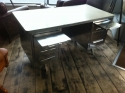 Polished Steel 1950`s French Desk Vintage Industrial - picture 4