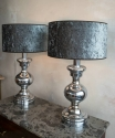 Pair of Italian polished chrome lamps C 1970 - picture 2