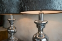 Pair of Italian polished chrome lamps C 1970 - picture 3