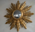 Large Carved Wood Sunburst Mirror C 1950 - picture 1
