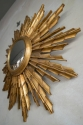 Large Carved Wood Sunburst Mirror C 1950 - picture 2