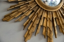 Large Carved Wood Sunburst Mirror C 1950 - picture 3