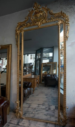 Rare English Pier Glass Mirror c1870