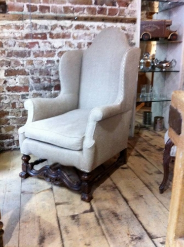 17th C style Wing Armchair