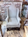 17th C style Wing Armchair - picture 2