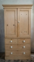 Mid Victorian Pine Linen press - picture 1