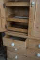 Mid Victorian Pine Linen press - picture 2