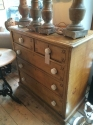 Victorian painted Pine chest of drawers - picture 1