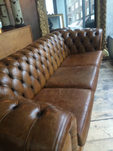 Tan Leather Chesterfield