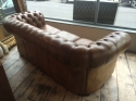 Tan Leather Chesterfield - picture 2