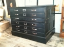 Vintage Ebonised  Oak plan chest - picture 1