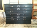 Vintage Ebonised  Oak plan chest - picture 2
