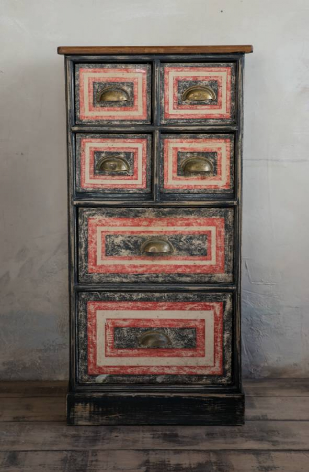 Small painted Bank of Drawers