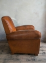 Brown leather   Club armchair  C 1950 - picture 2