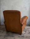 Brown leather   Club armchair  C 1950 - picture 3