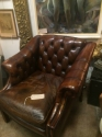 Charning Leather low back wing chair - picture 1