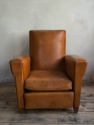 Tan Leather Club chair c 1950 - picture 1