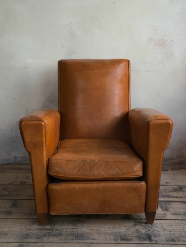 Tan Leather Club chair c 1950