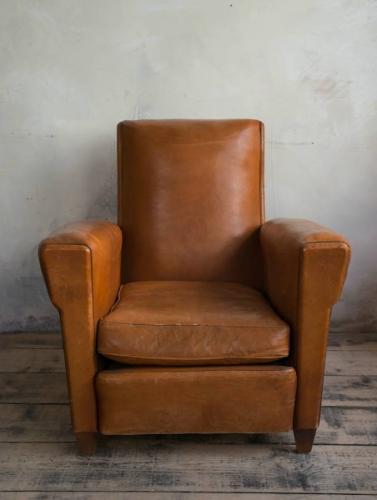 Tan Leather Club chair c 1950