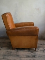 Tan Leather Club chair c 1950 - picture 2