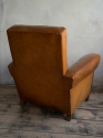 Tan Leather Club chair c 1950 - picture 3
