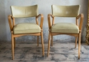A good pair of reupholstered Leather Ben Cha - picture 1