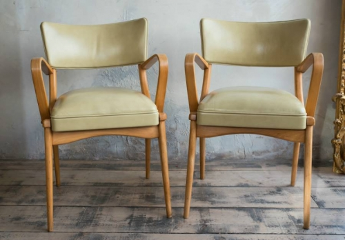 A good pair of reupholstered Leather Ben Cha