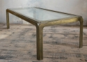 1970`s Brass and Clear Glass Coffee Table - picture 2