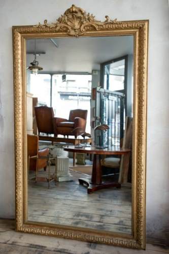 Large French Gilded Mirror